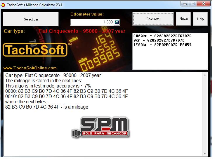Tachosoft Mileage Calculator 23.1