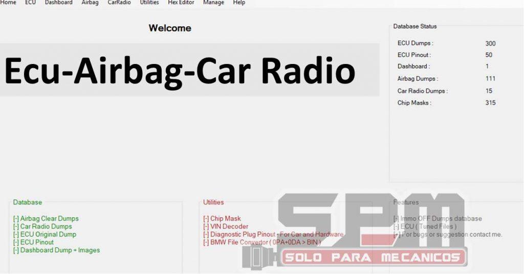Chip Tuning Ecu Airbag Car Radio Database