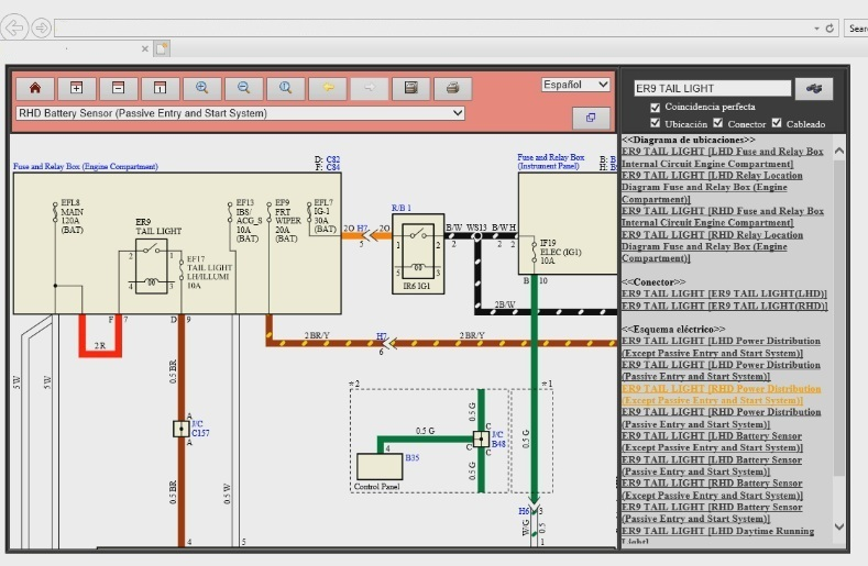 TIS LUV MAX diagrama eléctrico del battery sensor