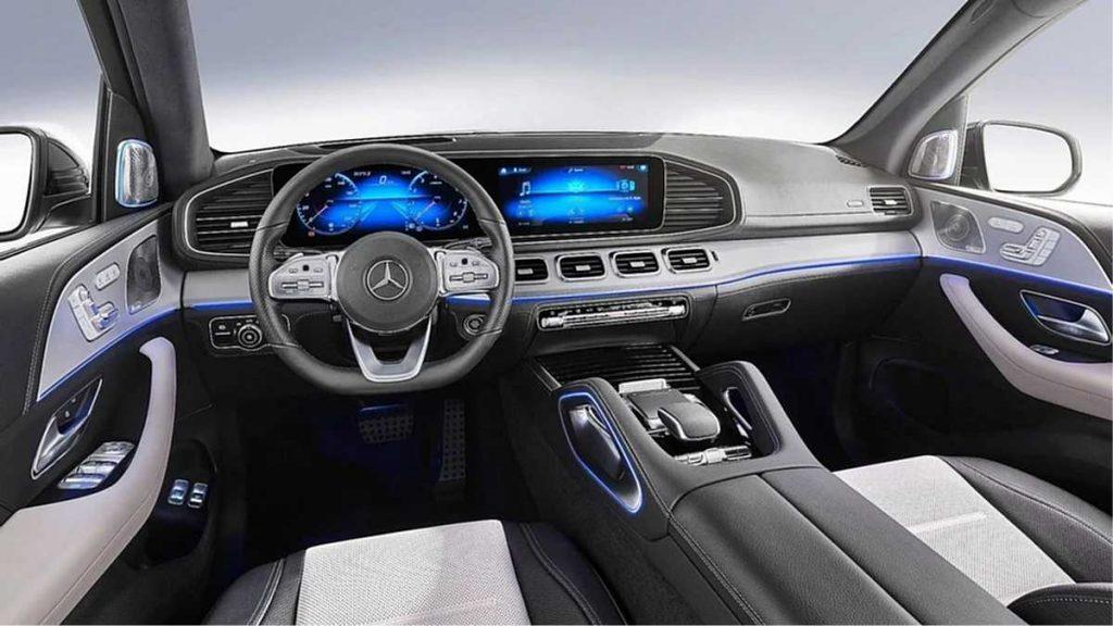 Mercedes Benz GLE 2019 parte Interna sección Tablero